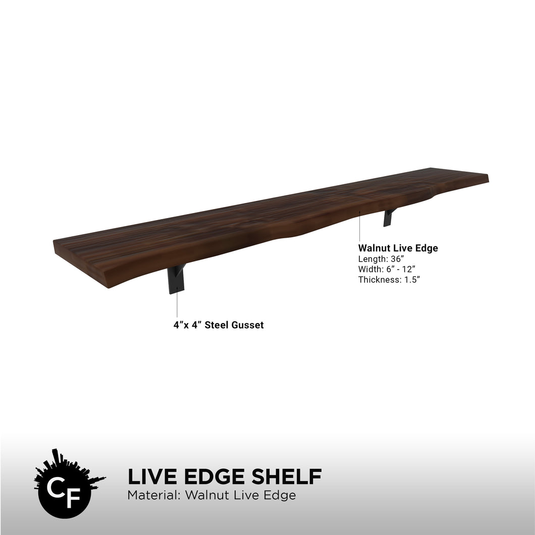Live Edge Shelf