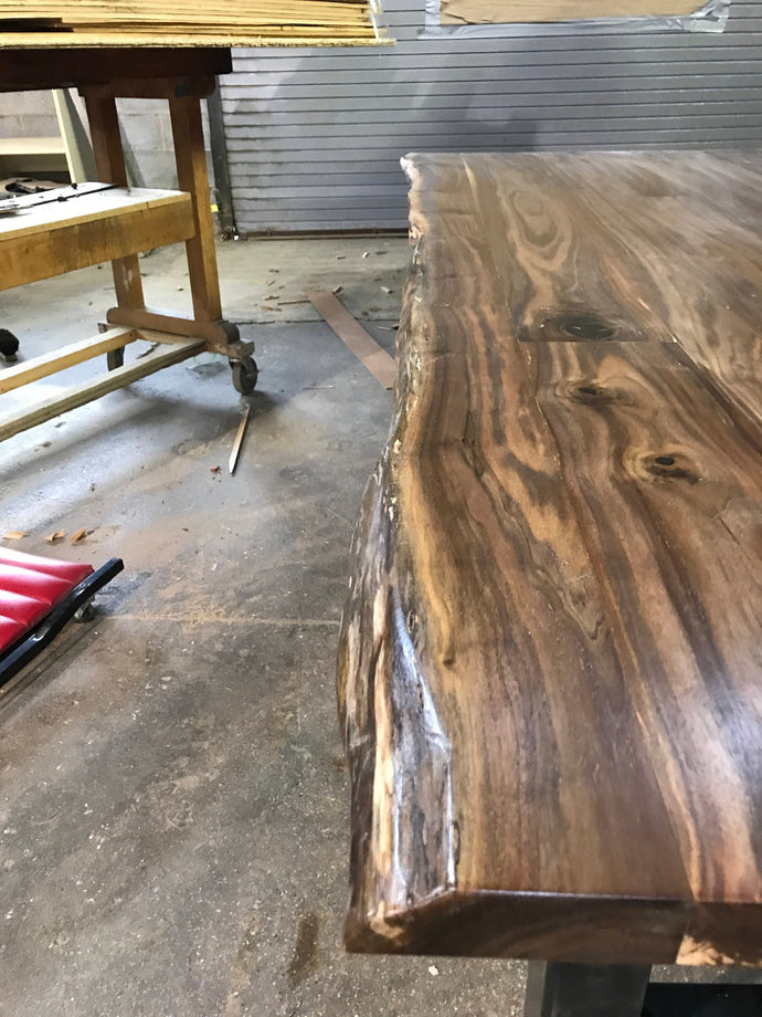 Beautiful Handcraft Live Edge Walnut Table For Your Office Or Home