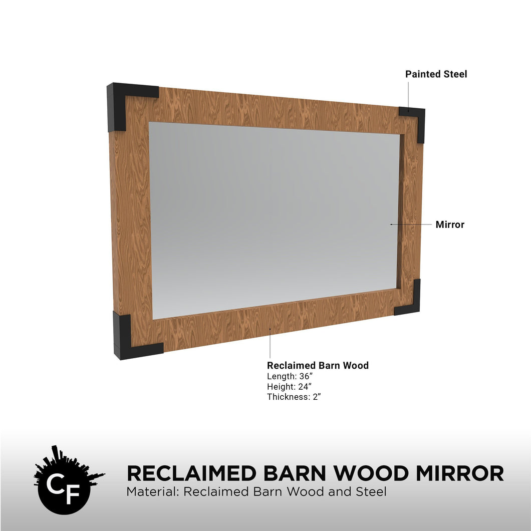 Reclaimed Barn Wood Mirror