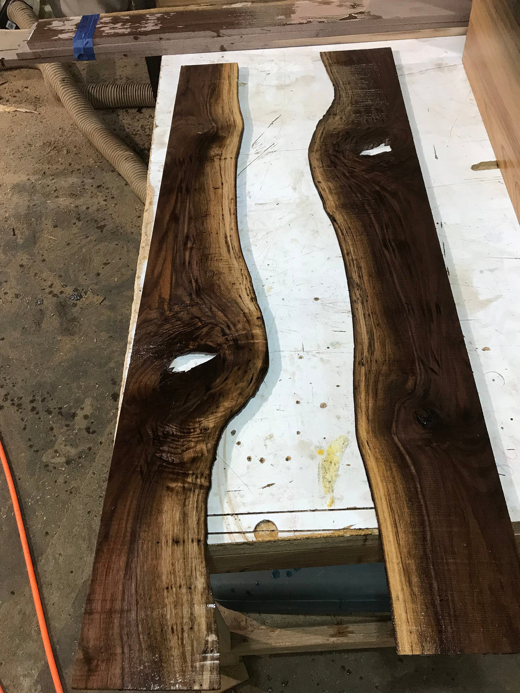 "Live Edge Walnut for mirrors 48"" x 6"" x 1/4"""