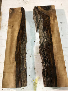 Pair of Live edge Walnut