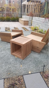 Red Wood End Table (Great for Outside)