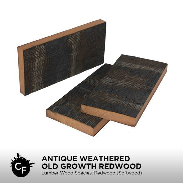 Antique Weathered Old Growth Redwood