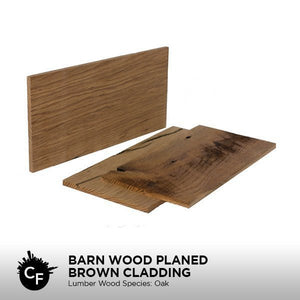 Barn Wood Planed Brown Cladding