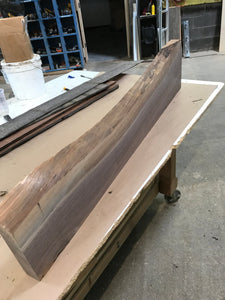 "36"" Raw Live edge Walnut Piece for mirror, table top and many purposes"
