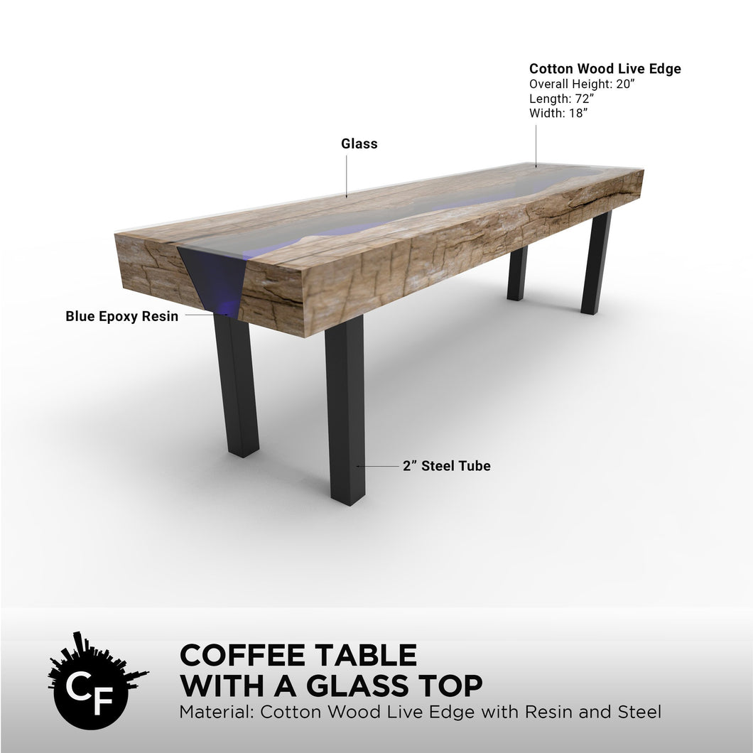 Coffee Table with a Glass Top