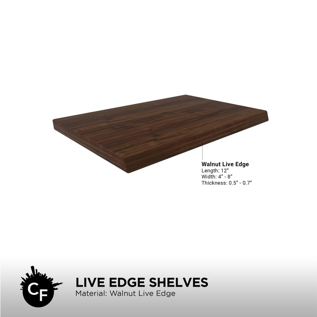 Live Edge Shelves (Pack of 3)