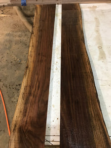 "Pair of 1/4"" Live Edge Walnut Slabs (Milled for Mirror edges)"