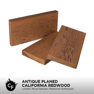 Antique Planed California Redwood