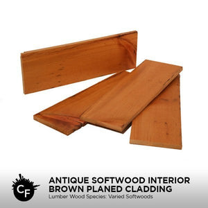 Antique Softwood Interior Brown Planed Cladding