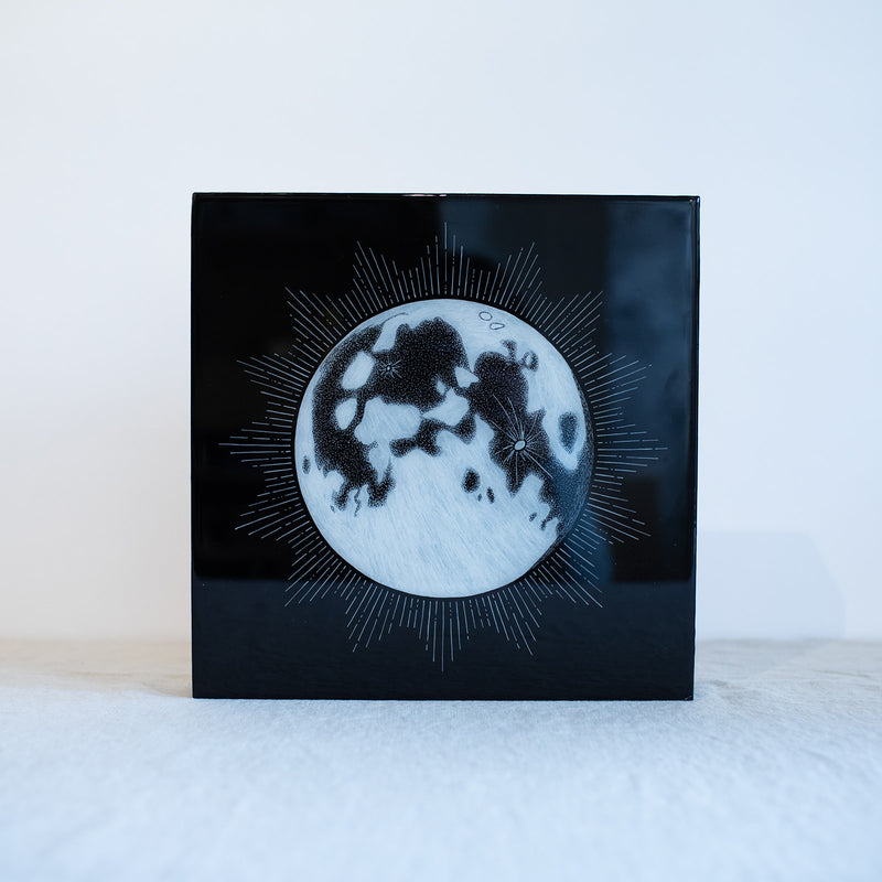 "Full Moon 12""x12"" Original"