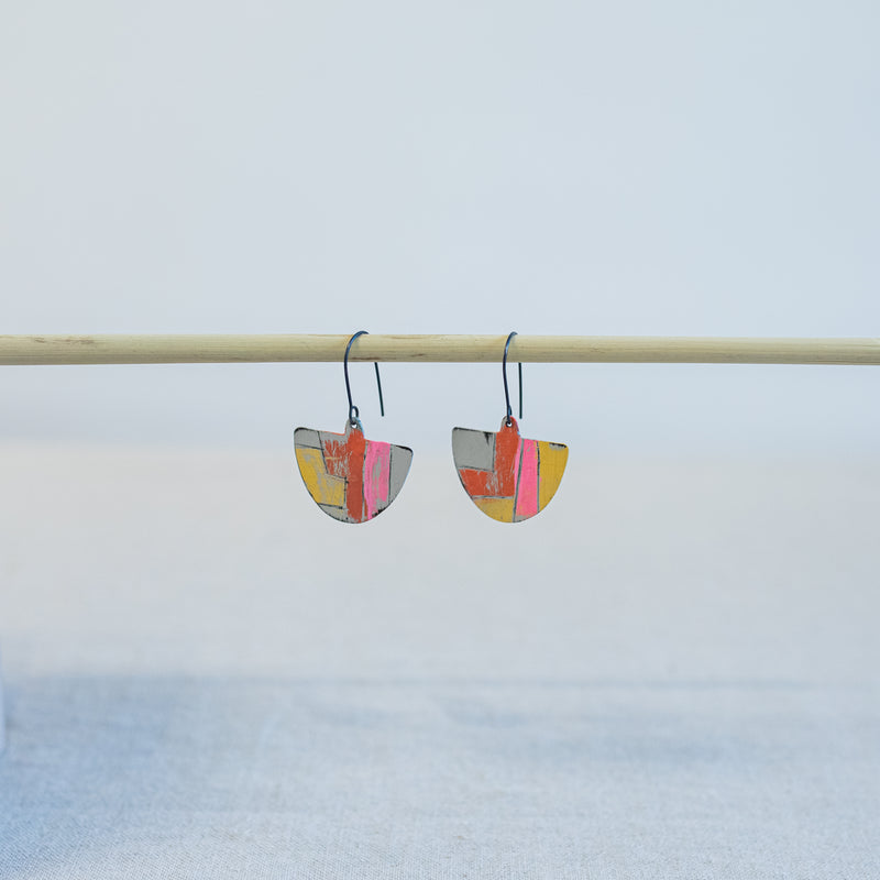Tool Earrings in Yellow and Red