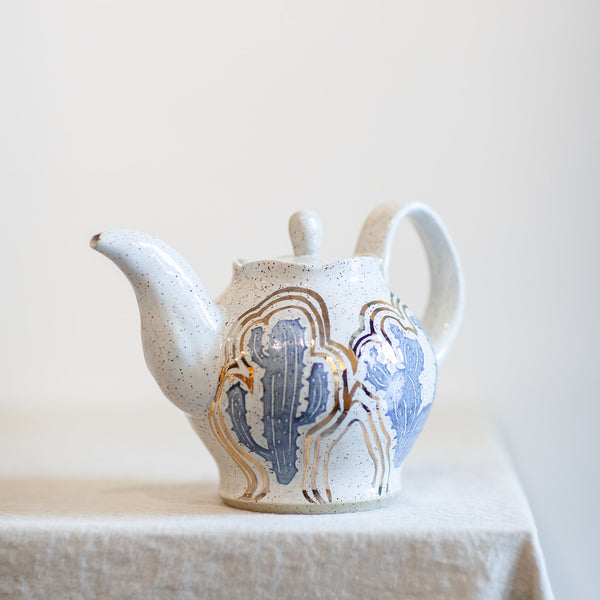Teapot with 14K Gold