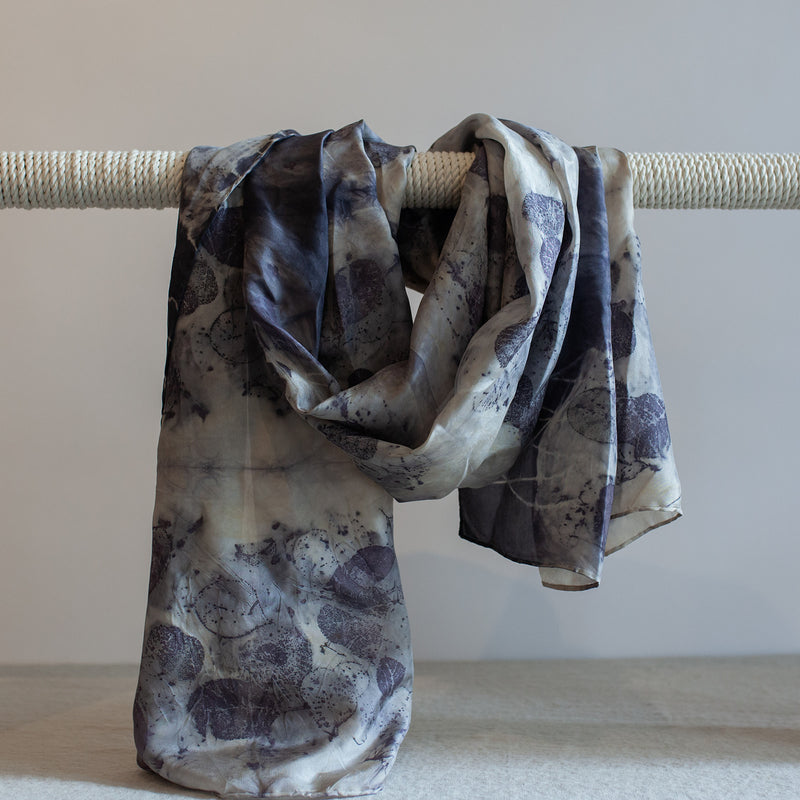 Lac and Smokebush Silk Scarf