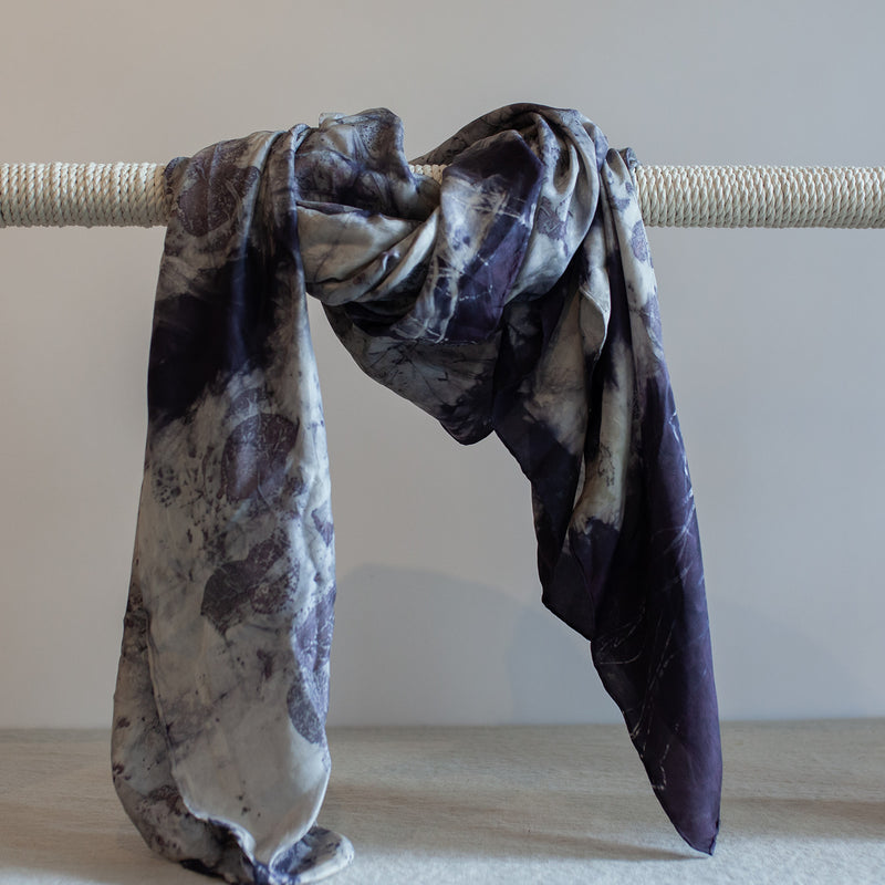 Lac and Smokebush Silk Blanket Scarf