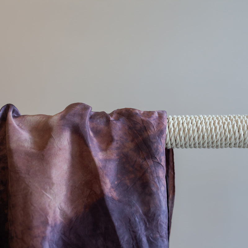 Lac and Wild Raspberry Silk Blanket Scarf