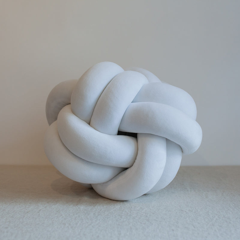 Large White Knot Pillow