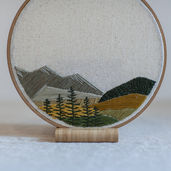 Mountain and Tree Landscape - 8in