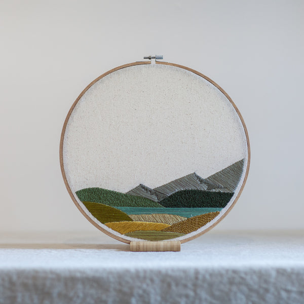 Mountain and Lake Landscape - 12in