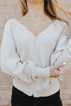 The Kendall Button Top in Light Beige