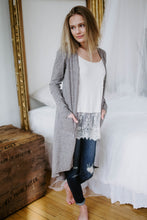 The Sienna Rib Knit Cardigan in Charcoal