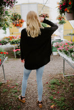 The Indie Button Waffle Knit in Black