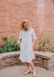 The Aria Bell Sleeve Dress
