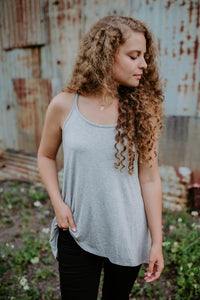 Our Everyday Tunic Cami in Gray