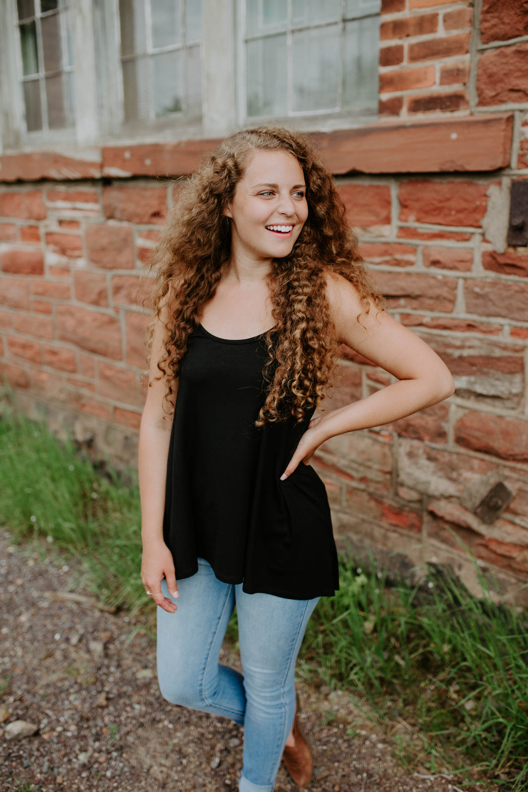Our Everyday Tunic Cami in Black