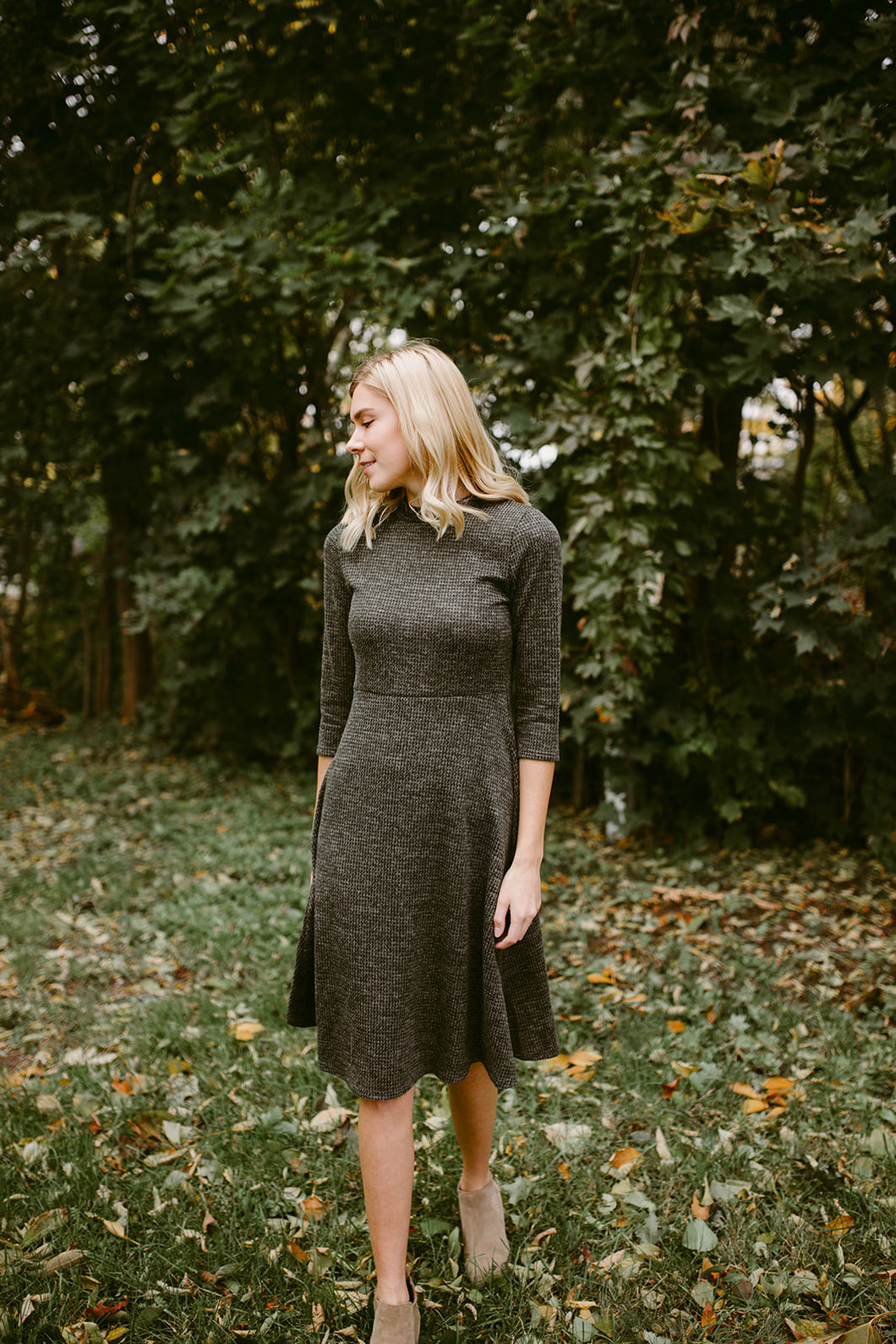 The Cambrie Mock Neck Dress