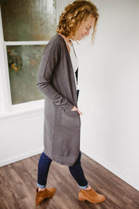 The Lana Cardigan in Charcoal