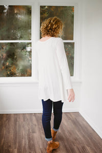 Our Everyday Long Sleeve Tunic in Ivory