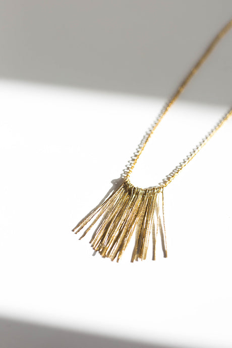 Fringed Long Chain Necklace