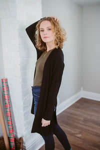 Our Everyday Kimono Cardigan in Black