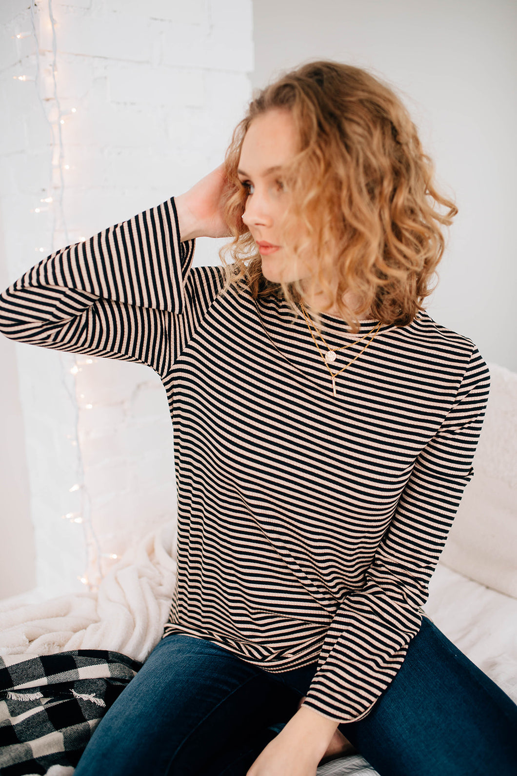 The Sadie Striped Flare Sleeve