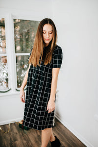 The Audra Grid Dress