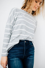 The Tenley Striped Pullover
