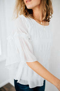 The Clemmons Ruffled Blouse