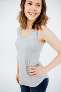 Our Everyday Basic Tank in Light Gray
