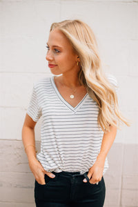 Our Favorite Striped V-Neck Tee