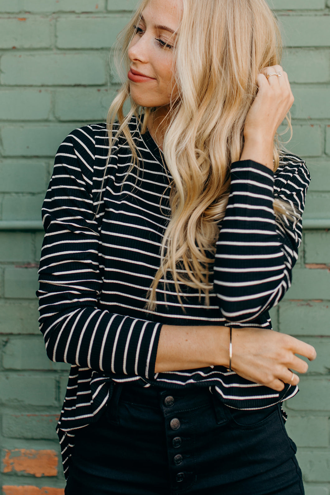 The Oakland Striped Long Sleeve