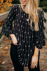 The Kaelyn Patterned Tunic Blouse