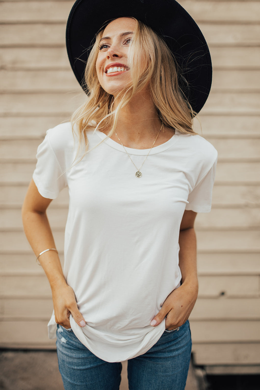 Our Everyday Basic Scoop Tee in Ivory *RESTOCKED*