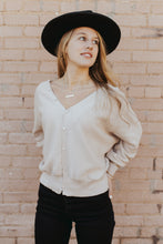 Kendall Button Top in Light Beige