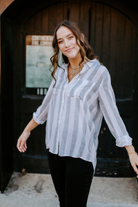 The Blaire Striped Button Up