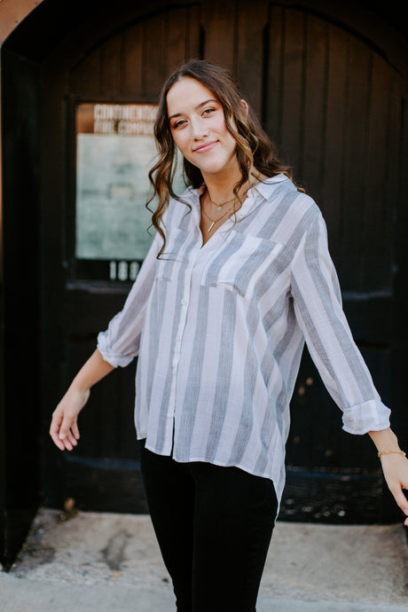 The Blaire Striped Button Up *RESTOCKED*