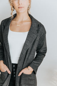 The Chloe Blazer Jacket in charcoal