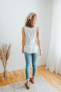 Our Everyday Basic V-Neck Tank in Ivory