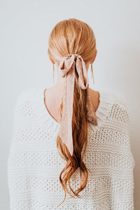 The Swiss Dot Hair Scarf