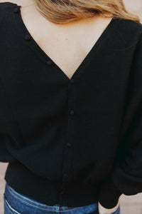 Kendall Button Top in Black